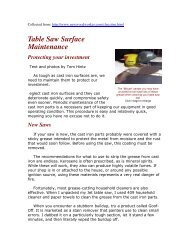 Table Saw Surface Maintenance - gerald@eberhardt.bz
