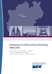 Einladung zum BFW Landesverbandstag NRW 2010