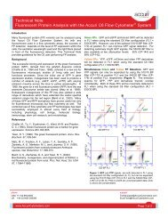 Technical Note Fluorescent Protein Analysis with the Accuri C6 Flow ...