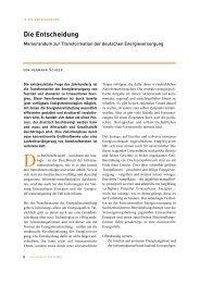 Die Entscheidung - Transformation der ... - Hermann Scheer