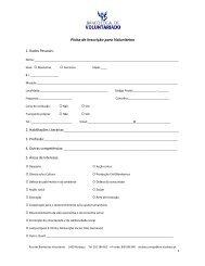 Ficha de Inscrição para Voluntários 1. Dados Pessoais: 5. Áreas de ...