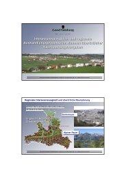 Regionaler Interessenausgleich am Beispiel Salzburg