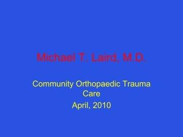 Michael T. Laird, M.D. - California Orthopaedic Association