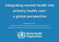 Integrating mental health into primary health care: a ... - Cittadinanza