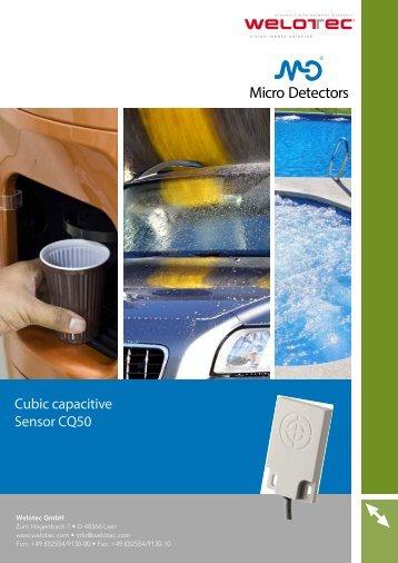 Cubic capacitive Sensor CQ50 - Welotec