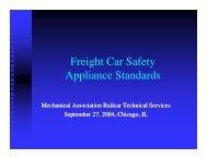 Freight Car Safety Appliance Standards - Mechanical Association ...