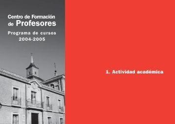 Actividad académica - Instituto Cervantes