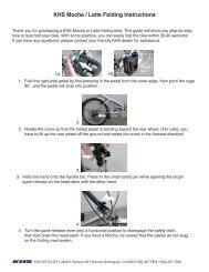 KHS Mocha / Latte Folding Instructions - KHS Bicycles