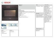 Technische Daten Bosch HND 1014 - VS Elektro