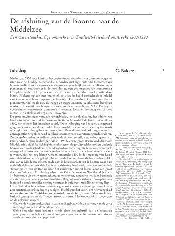 Tijdschrift voor Waterstaatsgeschiedenis - Jan van den Noort