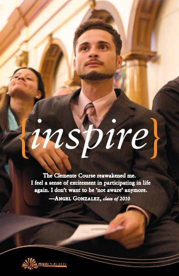 Page through the Inspire brochure to learn more. - Mass Humanities