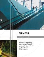 SiPass Brochure - Siemens Industry, Inc.