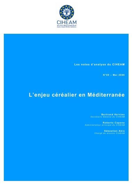 Sources : Nos calculs, à partir de CIHEAM-Agrimed 2006