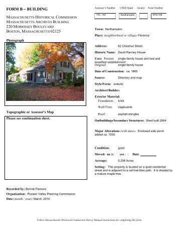 FORM B - BUILDING - Sugar Maple Trailside Inn