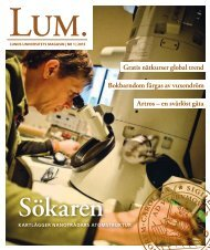 LUM 1 – 2013 - Humanekologi Lunds universitet