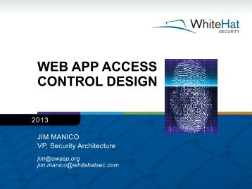 Access Control Best Practices - WhiteHat Security