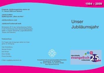 Unser Jubiläumsjahr - Evangelische Kirchengemeinde Mainz ...