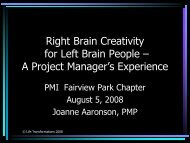 Right Brain Creativity for Left Brain People - FVP PMP Luncheons
