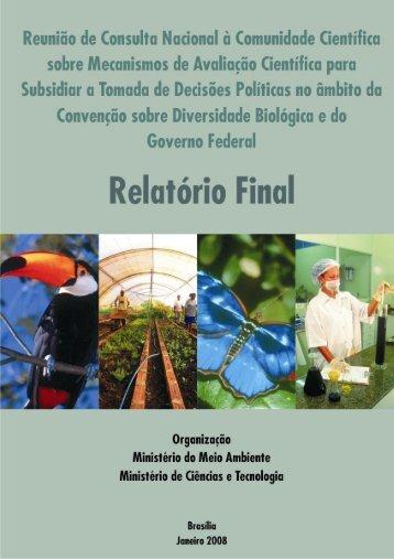 Relatório - Sociedade Brasileira de Ornitologia