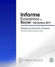 Informe Economico y Social - Noviembre 2011 - Ministerio de ...