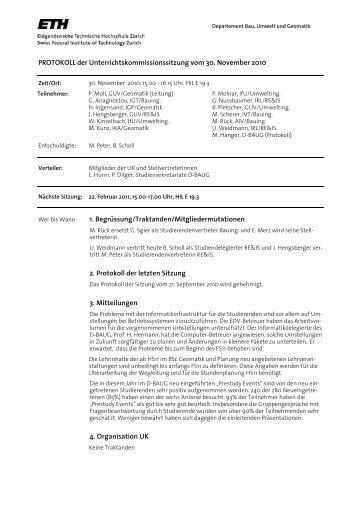Sitzung 4/10 vom 30.11.10 - Departement Bau, Umwelt und Geomatik