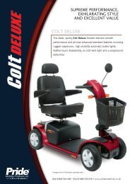COLT DELUXE - Pride Mobility UK