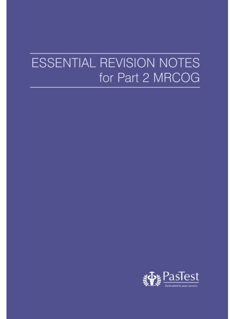 Pdf revision mrcog part 1 for notes the