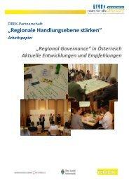 """""""Regionale Handlungsebene stärken"""" - Österreichische ..."""