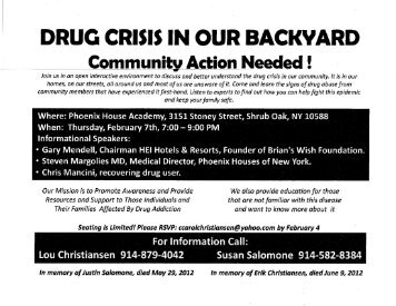 DRUG CRISIS IN OUR BACKYARD