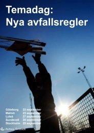 Temadag: Nya avfallsregler - Avfall Sverige