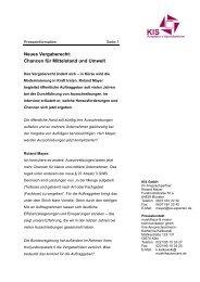 Neues Vergaberecht: Chancen für Mittelstand und Umwelt - KIS GmbH