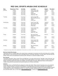 Dive Schedule and Map - Red Sail Sports