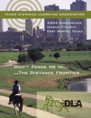 TxDLA 2005 Program.pdf - United States Distance Learning ...