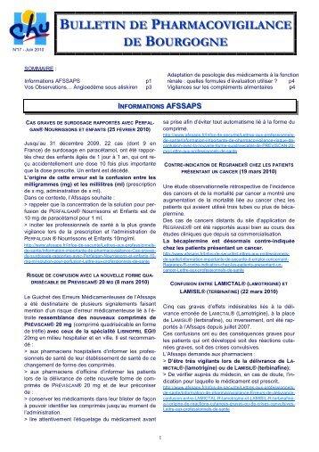 Bulletin n° 17, juin 2010 - ARS Bourgogne