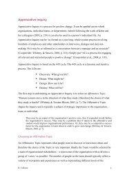 Appreciative Inquiry - The Wisdom Page