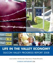 Life in the Valley Economy 2008 - Working Partnerships USA