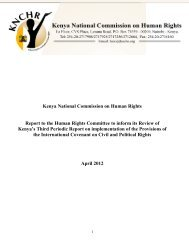 Kenya National Commission on Human Rights - Office of the High ...