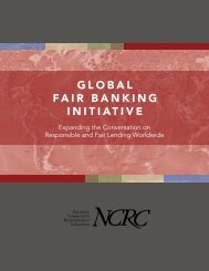 global fair banking initiative - National Community Reinvestment ...