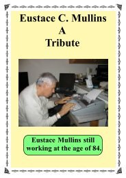 Eustace C. Mullins A Tribute - The New Ensign