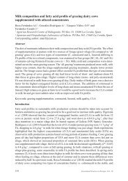 Milk composition and fatty acid profile of grazing dairy cows ...