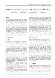 Distributed universal reconfiguration of 2D lattice-based modular ...