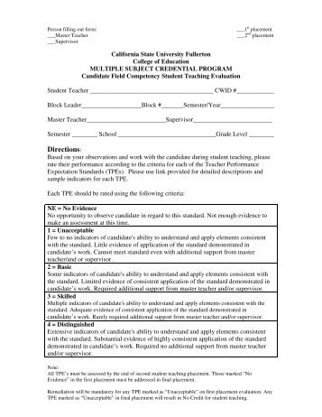 Edsc Student Teaching Midterm Evaluation Form Sti