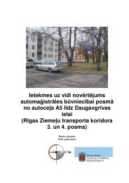 Ietekmes uz vidi novērtējuma darba ziņojuma teksts - Rīgas domes ...