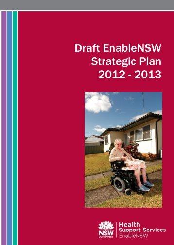 Draft EnableNSW Strategic Plan 2012 - 2013