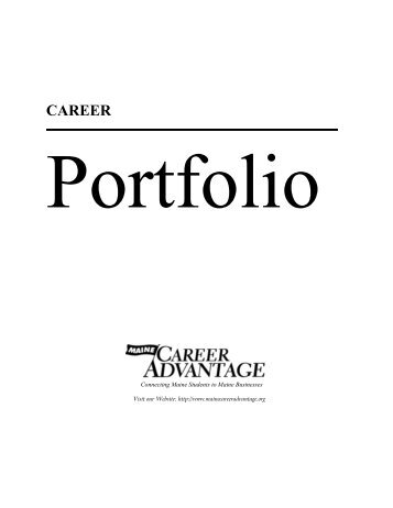 Topic personal and career development portfolio blueprint career portfolio center for career development malvernweather Choice Image
