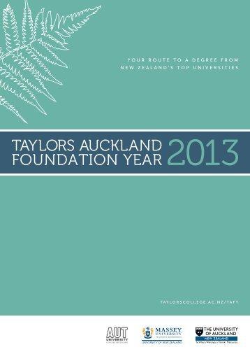 TAFY Brochure 2013 - Taylors College