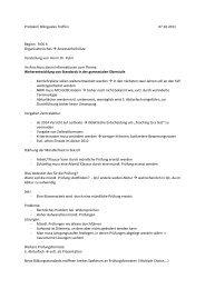 Protokoll 6. Oktober 2011