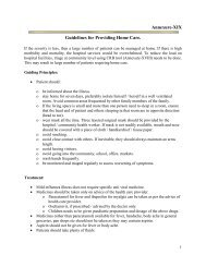 Guidelines for providing home care - Pandemic Influenza
