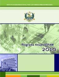 Programa Anual ISSFAM 2010.