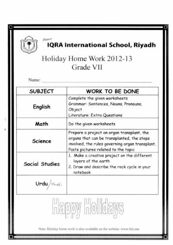 Grade VII - BIIS - Top International School in Riyadh